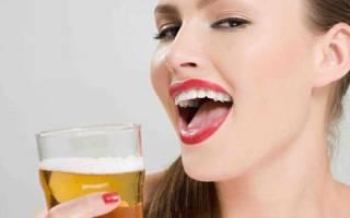 От пива у девушек молочница